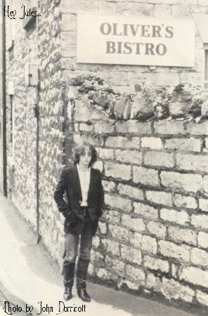 Julian outside the North Wales restaurant owned by his mother